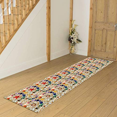 Hallway Runner Alfombra de cocina con agarre para pasillo y decoración del hogar (color: A, tamaño: 0,6 x 1 m)