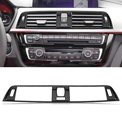 Vent Outlet Trim Cover For BMW Serie 3 F30 2013-2018 2pcs Carbono Lateral Estilo Coche de la Fibra Aire Acondicionado Vent Ajuste de la Cubierta Pegatinas Frame (Color : Carbon Fiber Style)