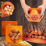 Gpure DIY Máquina Salchichas de PP Plastico Cocina Naranja Molde Manual Hacer 7 Embutidos Hot Dog,Portátil Rectángulo...