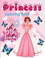 Princess coloring book: 60 unique and beautiful designs for girls aged 3-9 years - a great gift