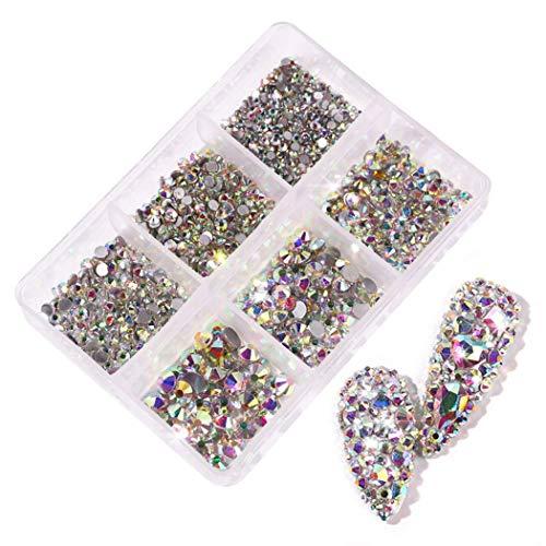 Fascigirl Nagelkunst Strass Glanzende Decoratieve Nagelkunstjuwelen Nagelkunstkristal voor Acrylnagels