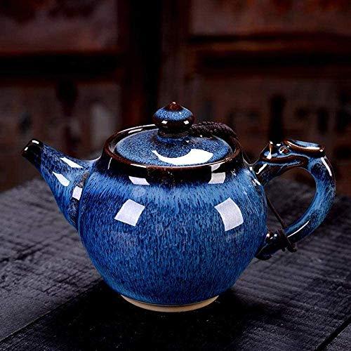 ZQADTU Tetera de cerámica, Juego de té de Chino Retro, Taza de té de Porcelana para la Ceremonia del té, hervidor Hecho a Mano, vajilla para Beber