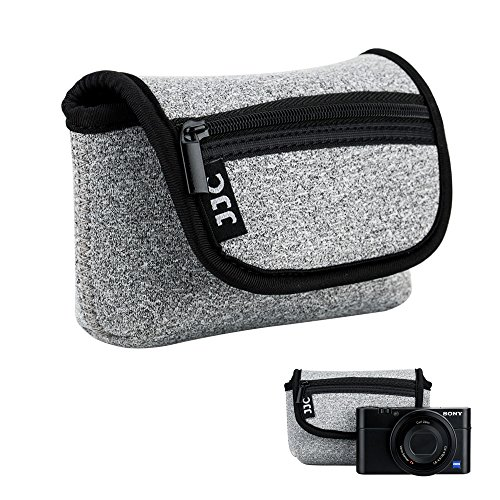 JJC Neopren Kameratasche für Sony Z-V1 RX100 III IV V VA VI VII HX99 HX95 HX90 HX60 / Olympus TG-6 TG-5 / Pana. Lumix DMC TZ81 TZ71 Canon G7X Mark III II SX620 SX720 SX730 SX740 / Ricoh GR III II
