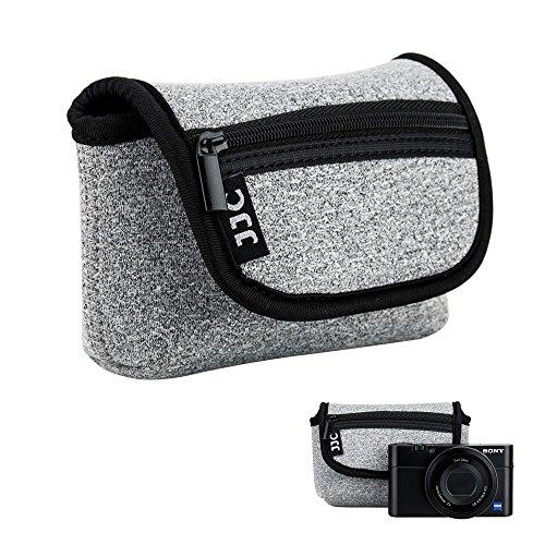 JJC Neopren Kameratasche für Sony RX100 III IV V VA VI VII HX99 HX95 HX90 HX60V HX60 / Olympus TG-6 TG-5 / Panasonic Lumix DMC TZ81 TZ71 Canon G7X Mark III II SX620 SX720 SX730 SX740 / Ricoh GR III II
