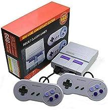 Zmmlhy Mini consoles de jeux rétro, console SNES classique compatible avec 660 jeux intégrés avec deux manettes de jeu pou...