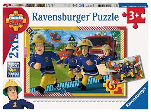 Ravensburger Kinderpuzzle 05015 - Sam und sein Team - 2 x 12 Teile
