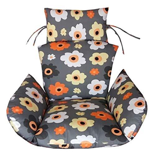 DYYD - Cojín para silla de huevo, colgante grande, para silla de huevo, sin soporte, para patio, columpio, desmontable, para exteriores, color D