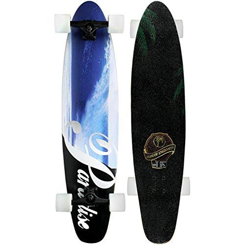 "Paradise Longboard Complete 9"" x 40"" Wave Fade Kicktail Shape"