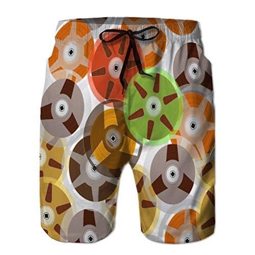fgdhfgjhdgf Men's Summer Boardshorts Outdoor Sports Casual Shorts Music recordable Babin L