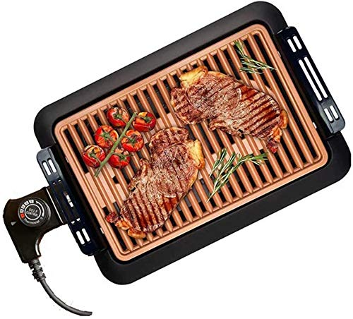 Cakunmik Mesa eléctrica Top Grill, SmokeFree Grilling Grilling Grills Grill 220V 1250W...