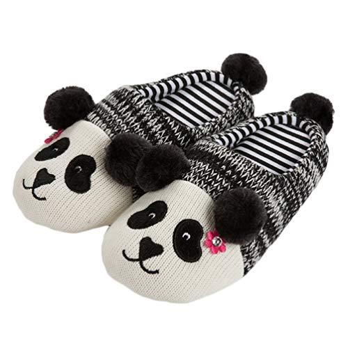 Holibanna Panda Hausschuhe Weihnachten Plüsch Pantoffel Winter warme Hausschuhe Erwachsene Größe (39-40)