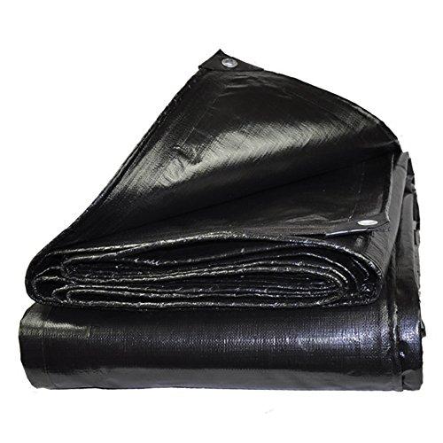 TZSMPB Lona for la Lona Lona Impermeable Lona for el Suelo Cubiertas for la Cubierta Espesador Carpa Reforzada for Exteriores Reforzada Negro (Size : 2x3m)