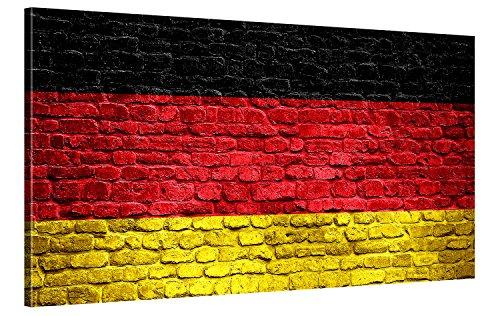 Gallery of Innovative Art – Deutschland Brick Wall – 100x50cm – Leinwandbild XXL Kunstdrucke in Modern Art Stil