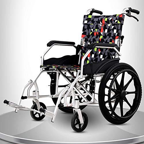GFKSMS Silla de Ruedas Multi-Función de Las Luces portátil Plegable Ocio Antideslizantes Barandilla pequeño Viaje para sillas de Ruedas de Aluminio de aleación para Personas de Movilidad Reducida