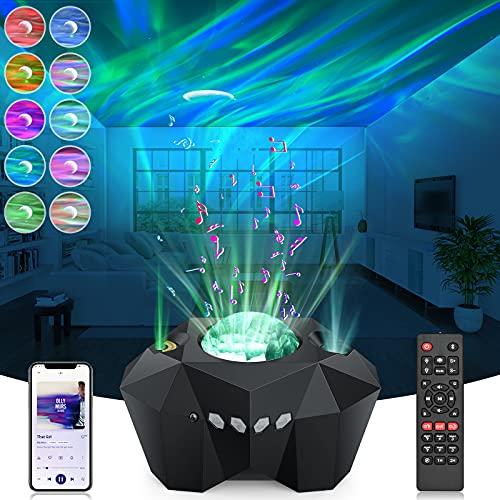 LED Sternenhimmel Projektor Lampe Nachtlicht Sternenhimmel LED Projektor Galaxy Projector Lampe Sternenhimmel für Kinder Erwachsene Zimmer mit Fernbedienung/Bluetooth/Timer/5 Helligkeitsstufen