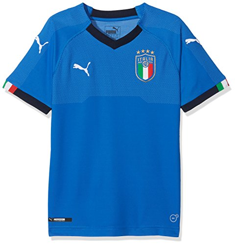 PUMA Herren Figc Italia Kids Home Replica SS Shirt, blau (Team Power Blue-Peacoat), 128