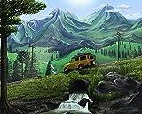 ZXlDXF Pintura por números Kit de pintura al óleo para niños adultos dibujo pintura acrílica decoración del hogar regalos coche en la carretera 40,6 x 50,8 cm