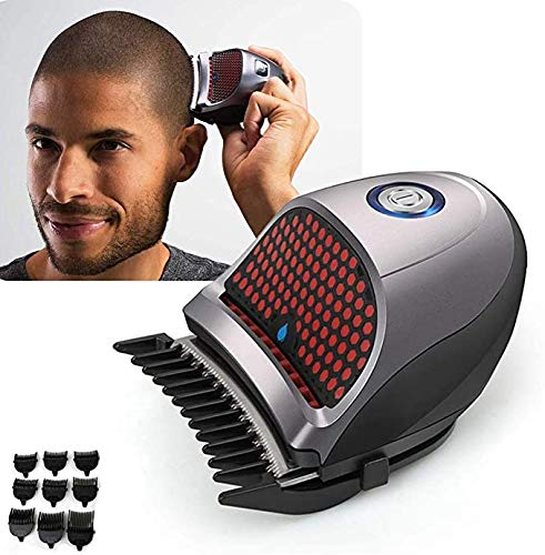 PETAMANIM Cheveux ClippersBald Head Clipper Raccourci Auto-Haircut Kit Rasoirs sans Fil Rechargeable Cutter Cheveux Machine à raser avec 9 Combs