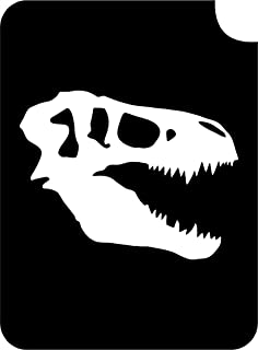 Dinosaur Body Art Glitter Makeup Tattoo Stencil- 5 Pack (T Rex Skull)