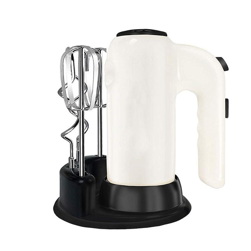 食品アコー成熟DFLZJJ エッグビーター- 電気卵ビーターホームベーキングミニミキシングヘアクリーム小さなハンドヘルドハイパワーエッグビーター (Color : White, Size : 7x18cm)