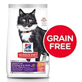 Grain Free Dry Cat Food by Hill's Science Diet, Adult, Sensitive Stomach & Skin,...
