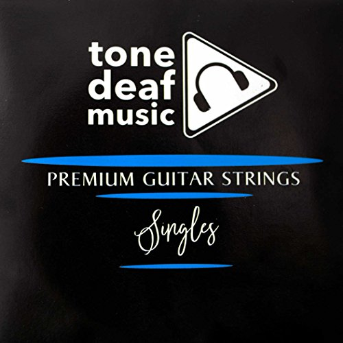 5 Pack of Electric or Acoustic Guitar Strings - 010 gauge Top E 1st single 10s 0.10
