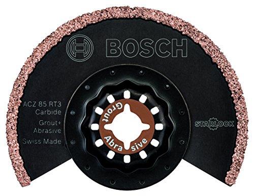 Bosch Karbid Segmentsägeblatt Mörtel und Fliesenkleber für Multifunktionswerkzeuge Starlock (ACZ 85 RT3)