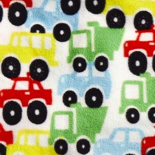 Shopko Cozy Printed Fleece Throw Blanket - Assorted Designs & Colors (Cars Trucks Buses Vehicles)
