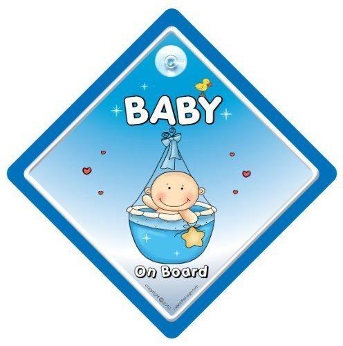 Baby On Board, petit-enfant à bord, panneau pour voiture, panier, bleu, panneau bébéà bord, bébéà bord, panneau bébéà bord Voiture, Petit-fils À Bord, petit-enfant à bord, panneau voiture Baby Boy On Board, Bébé, Coque, autocollant, Sticker