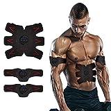 Electrostimulateur Musculaire, SAKOBSAbdos Appareil ElectrostimulationEMS pour l'Exercice Musculaire Abdominal/Bras/Jambes, Chargement USB et Six Modes d'Intensité