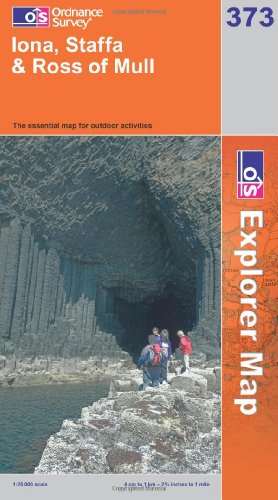 OS Explorer map 373 : Iona, Staffa & Ross of Mull