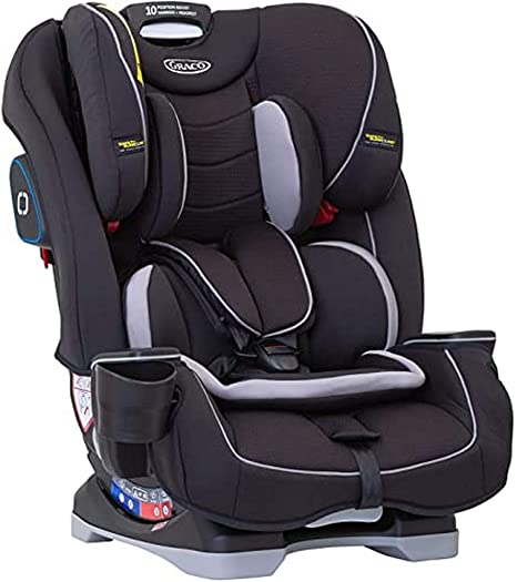 Graco Slimfit All-in-One Combination Car Seat, Group 0+/1/2/3 (Birth to 12 Years Approx, 0-36 kg),Black: image