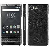 HualuBro BlackBerry Keyone Hülle, [Ultra Slim] Premium Leichtes PU Leder Leather Handy Tasche Schutzhülle Hülle Cover für BlackBerry Keyone Smartphone (Schwarz)