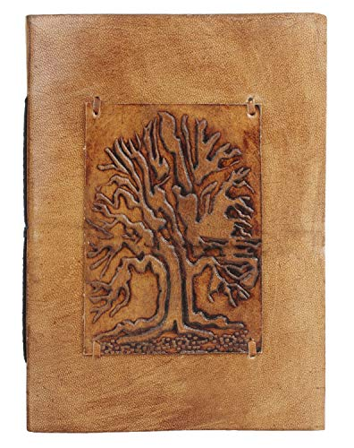 Tree of Life Leather Journal - Leather Bound Writing and Adventure Composition Notebook for Men Women by Rustic Town