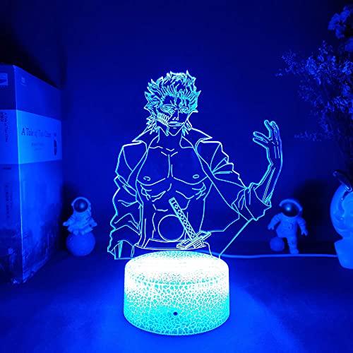 3D Night Light Anime Bleach Grimmjow Jaegerjaquez Led para decoración de dormitorio Lámpara de acrílico de neón de regalo Grimmjow-Luminous_Base-16 colores, control remoto