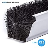 80ft 25 Pcs (3.2ft x 25) 100cm length Standard Gutter 4 Inch Brush guard - Simple For 4.5~5 Inch Gutter Brush Filter Leaf Debris Guard Gutter