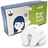 Wittle Door Finger Guards - 4pk. Baby Proofing Doors Made Easy with Soft Yet Durable Foam Door Stopper. Prevents Finger Pinch Injuries, Slamming Doors, and Child or Pet from Getting Locked in Room!