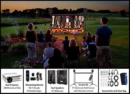 Indoor/Outdoor Theater Kit | Silverscreen Series System | 9'...