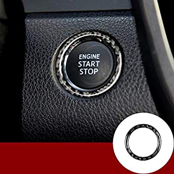 Wroadavee Carbon Fiber Console Engine Start Stop Button Cover for Subaru BRZ 2012-2019