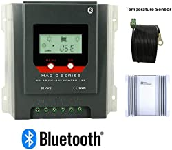 PowMr MPPT Charge Controller 40 amp 12V 24V auto - Negative Ground, Built-in Bluetooth and Weatherproof, Solar Charge for Lithium Sealed Gel Flooded Batteries, Energy-Recording