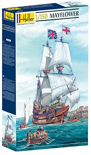 Heller 80828 - Modellino da Costruire, Veliero Mayflower, Scala 1:150 [Importato da Francia]