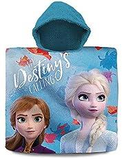Disney Frozen Poncho 2 Algodón, Unisex niños, Multicolor, Talla Única