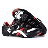 BUCKLOS Road Cycling Shoes Men, Precise Buckle Strap Mountain Bike Shoes Peloton Sneakers Spin Shoes MTB Bicycle Shoes Compatible with SPD/SPD-SL & Look Delta Lock/Unlocked