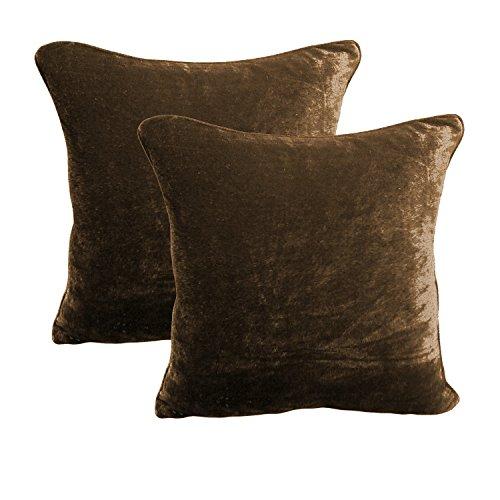 brightlinen 2pcs funda de cojín 100% algodón terciopelo Calidad de Hotel 600hilos