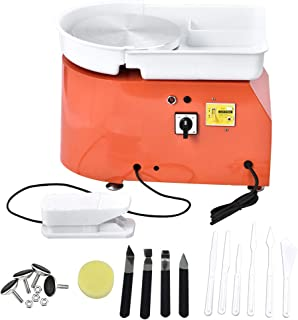 ETE ETMATE 25CM 350W Electric Pottery Wheel Machine with Independent Foot Pedal Ceramic Work Clay Art Craft Electric Potte...