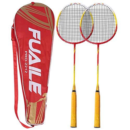 VGEBY Set di Racchette da Badminton 2pz Accessori per Racchette da Racchetta da Badminton con Borsa