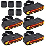 GREENCYCLE Smart Bike Tail Light, Anti-Theft Bicycle Taillight with Turn Signals and Automatic Brake Light, Bike Rear Light with Remote Control, USB Rechargeable Safety Warning Cycling Light, 5 Pack