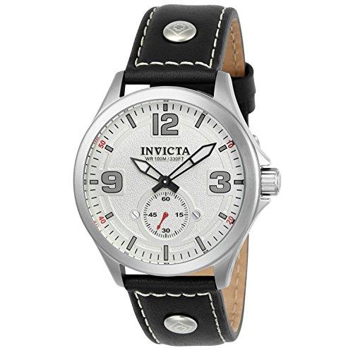 Invicta 22527 Aviator Reloj para Hombre acero inoxidable Cuarzo Esfera blanco