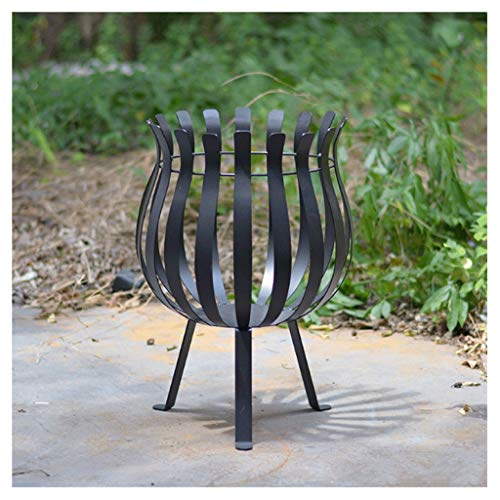LZL Firewood basket Fire Pit 18in Square Metal Firepit Stove Backyard Patio Garden Fireplace for Camping, Outdoor Heating, Bonfire and Picnic (Color : B)