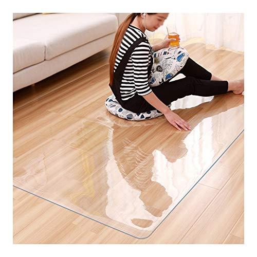 NINGWXQ Tapetes for Office sin Sabor Suave de Cristal Transparente Mantel Mesa de café cojín de PVC Impermeable Anti-Quemaduras de Aceite a Prueba de Mantel Crystal Plate, Personalizable